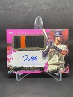 2021 Topps Inception Joey Bart Pink Rookie Patch Auto #/50