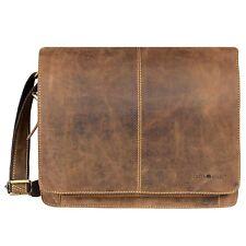 Greenburry Vintage I Messenger Aktentasche Schultertasche Leder 32 cm (braun)
