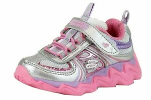 Skechers Toddler Girl's Cosmic Wave Litebeam Silver Multi Fashion Sneaker Shoes