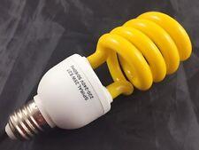 4 x CFL 25W E27 Insect Bug Repellent Globe Lamp Half Spiral Light Bulb Yellow