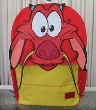Disney  Loungefly Mulan Mushu Backpack School Travel Bag NWT