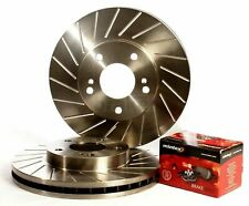Rear 40G Grooved Brake Discs with Mintex Pads to fit Nissan 300ZX Z32 Twin Turbo