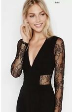 Nwot! EXPRESS Lace Back And Sleeve Jumpsuit Sz 12