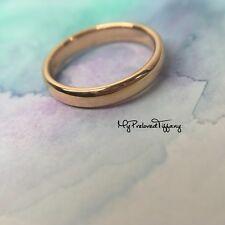 827e52524 Mint Tiffany & Co Rose Gold RG Lucida Classic Wedding Band Ring 3mm RP$750 #