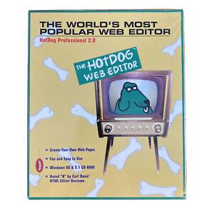 Vintage The HotDog Web Editor 1996 Professional 2.0 NOS