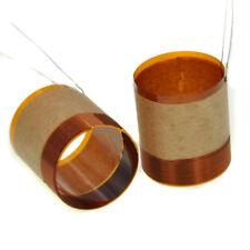 2x 25.5mm Loudspeaker Woofer Audio Bass Speaker Voice Coil Pure Copper Wire Part