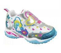 The Smurfs Girls Size 8M Blue White Smurfette Sneakers Toddler Slip On Lighted