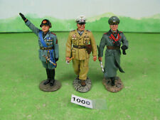 king & country metal soldiers x3 german WWII collectable models 1000