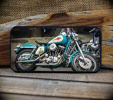 iPhone 6+ or 6S+ Case Motorcycle Vintage Blue Harley Davidson