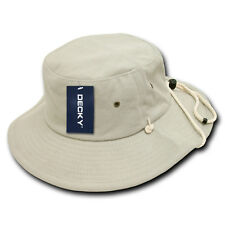 Stone Aussie Boonie Safari Bucket Fishing Sun Outback Drawstring Hat Hats L/XL