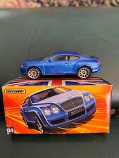 Matchbox #4 Bentley Continental GT Blue with Box Best of British