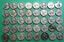 1- FULL MIXED ROLL OF 40 WASHINGTON SILVER QUARTERS. $10.00 FACE VALUE. #12