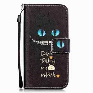 For iPhone 5/6/7/8 Samsung Magnetic PU Leather Wallet Pattern Case Cover