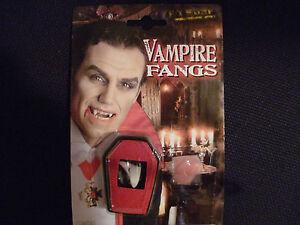Dracula Vampirzähne FASCHING / Karneval Vampir Zähne Reißzähne Eckzähne NEU