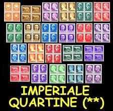 ITALIA ITALY 1929 Serie Imperiale MNH ** in quartine Italian Reign