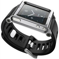New Silver Cool Aluminum Watch Band Wrist Band Bracelet Case for iPod Nano 6