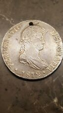 1812 Spanish Silver 8 Reales Eight Real US Colonial Dollar Pirate Treasure Coin