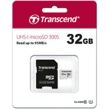 Transcend MicroSD SDHC 32GB Memory + Adapter for LG V7, L9, G3, V40, G Stylo 2