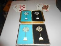 Vintage Arrco Tree Planter Pattern Double 52 Card Playing Card Deck Set