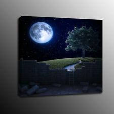 Modern Canvas Prints Tree Night star Moon Wall Art Painting Home Decor-No Frame