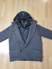 Canali Cardigan Jacket removable Hooded Shearling Vest NWT US 40 EU 50 $5235