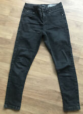 Ladies New Look Black Super Skinny Ankle Grazer Jeans Size 10 Petite