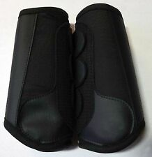 Roma Full Size Black Cross Country Pair of FRONT Brushing Boots