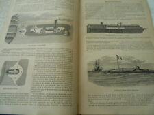 La Navigation Sous Marine Gravure Antique Print 1865