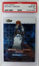 2002-03 Topps Finest Michael Jordan #100, Premium MJ, Graded PSA 10 Gem Mint