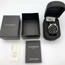 NEW 100% Authentic EMPORIO ARMANI MENS AR2434 WATCH BLACK DIAL