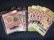 3DS Animal Crossing Amiibo Card Vol.1 5 PACK & Hard Protect Sleeve SET JAPAN F/S