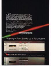 1982 Nakamichi LX-5 Cassette tape Deck Stereo Hi-Fi Vtg Print Ad