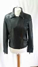 By South a Real Leather Black Biker Jacket UK 10