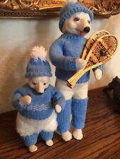 "Porcelain doll bear pair ""Rimsky Bear� & ""Teddy Bear Snowshoes"", Both Ltd Ed"