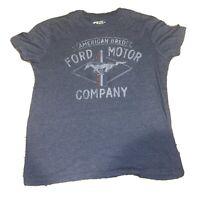 Ford Motor Company Logo Navy Heather Men's Big & Tall T-Shirt
