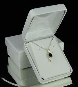 Black Onyx .75 ct Fancy Pendant / Necklace - Sterling Silver