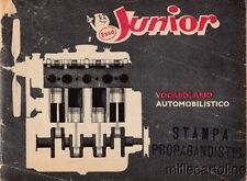§ ESSO JUNIOR VOCABOLARIO AUTOMOBILISTICO 1960 - 45 PAGINE ILLUSTRATE