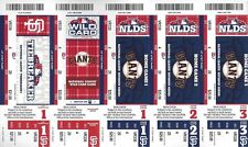 2012 NLDS FULL UNUSED BASEBALL TICKETS SHEET - REDS @ SF GIANTS