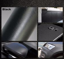 1.52x0.5m Black Car Leather Grain Textured Vinyl Wrap Sticker Decal Sheet Vinyl
