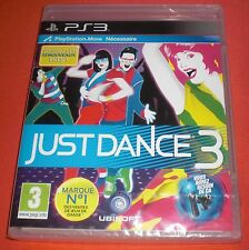 Playstation PS3 : Just Dance 3 [Pal FR] Neuf blister NO PS1 PS2 NO 4 5 *JRF*