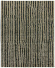 Striped Car Wash Dark Gray and Beige Handwoven Wool Rug N10746