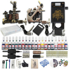 Neuf Complets Tattoo Kit de Tatouage 2 Machine à Tatouer 20 Couleur Débutant Set