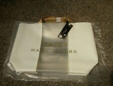 Marc Jacobs Daisy Tote Bag White/Clear/Gold NEW in the plastic ships free