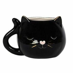 Cute Black Cat Face Mug
