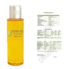 Natural Jojoba Oil 100% Hypoallergenic Component of Creams Massage Damaged Hair