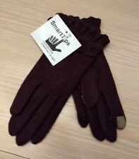 Smart Tips Touchscreen Smart Phone Tech Compatible Brown Texting Gloves