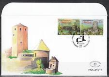 CEPT Bosnia-Erzegovina Mostar 2017 FDC used Castles