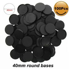 100pcs 40mm Plastic Bases Table Games Model Bases 40mm Round for War Games MB540