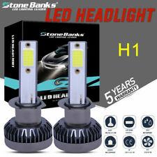 New listing 2pcs Mini H1 Cob Led Headlight Bulbs White 100W 20000Lm 6000K High Low Beams Us