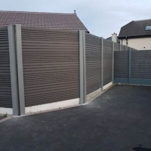 Slotted Concrete Fence Post Extender extend up to 2m Merlin Grey no digging